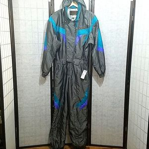 Vintage Descente men's one-piece ski suit L